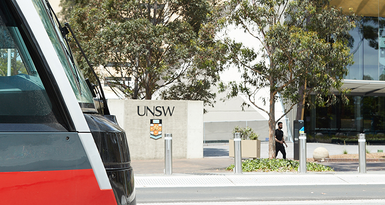 Light Rail arriving at UNSW campus