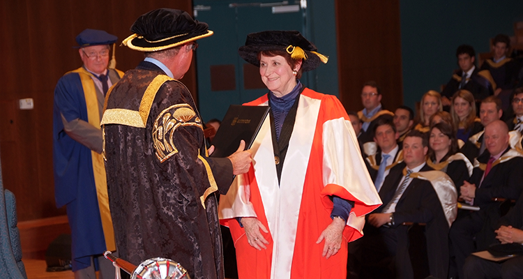 Susan Ryan receiving her honorary doctorate of letters