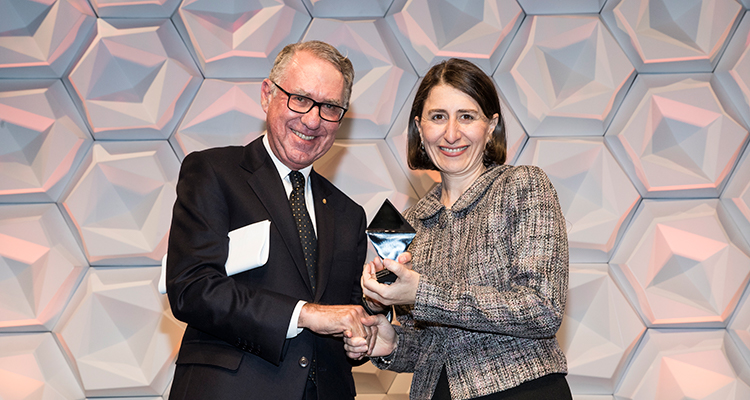 David Gonski AC with Gladys Berejiklian