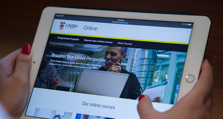 UNSW Online being accessed via an iPad
