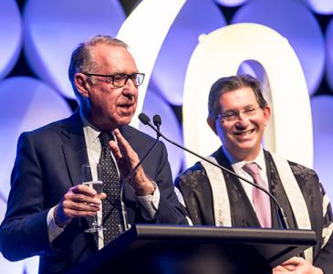 David Gonski and Professor Ian Jacobs at Town & Gown