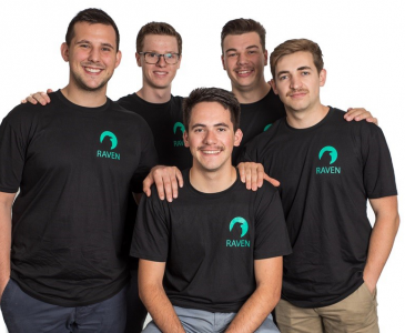 Five engineering students who started company Raven