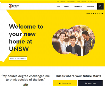 The new UNSW homepage