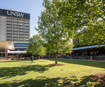 UNSW Library Lawn with Library tower in the background