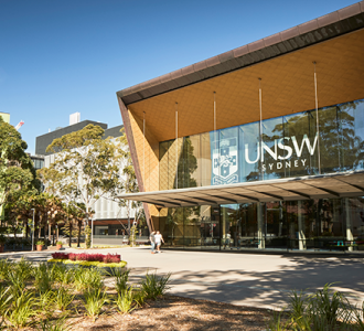 View of the John Clancy building at UNSW Kensington